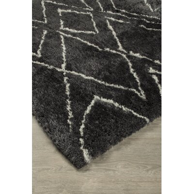 McAlester Hand-Tufted Black/White Area Rug Rug Size: 5 x 8