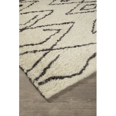 McClave Hand-Tufted Black/White Area Rug Rug Size: 5 x 8