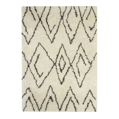 Jacques Hand-Tufted Black/White Area Rug Rug Size: Rectangle 8 x 10
