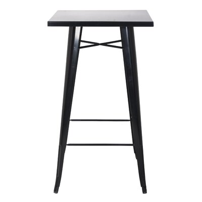 Dupras Pub Table Color: Black