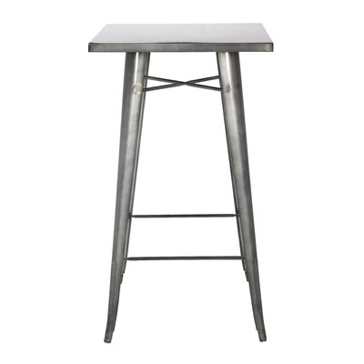 Matafao Pub Table Finish: Gun Metal