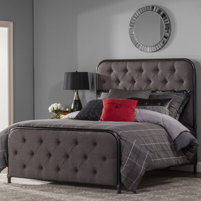 Minco Upholstered Panel Bed Size: Queen