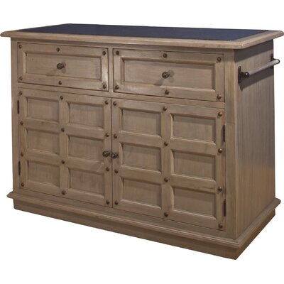 Mehdi Kitchen Island with Granite Top