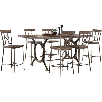 Ligia 7 Piece Count Height Dining Set