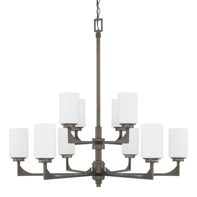 Bowdoin 10-Light Shaded Chandelier