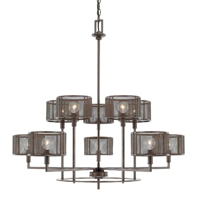 Falite 10-Light Shaded Chandelier