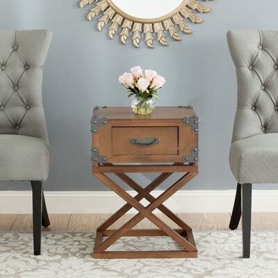 Agoura Hills Dunstan End Table With Storage� Color: Autumn Leaf