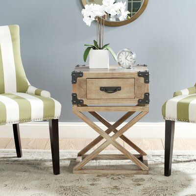 Agoura Hills Dunstan End Table With Storage� Color: Washed Natural Pine