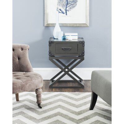 Agoura Hills Dunstan End Table With Storage� Color: Grey
