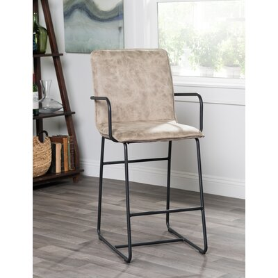 Canonero 24 inch Bar Stool Upholstery: Taupe