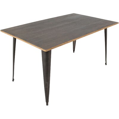 Victor 59'' Dining Table Color: Grey/Brown