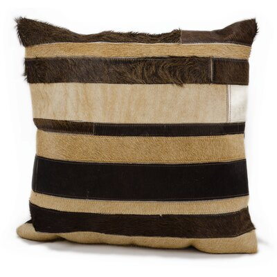 Brazos Natural Leather Hide Throw Pillow