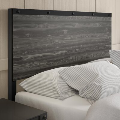 North Aurora Panel Headboard Color: Light Gray, Size: Full