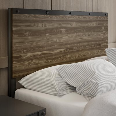 North Aurora Panel Headboard Color: Beige, Size: Full