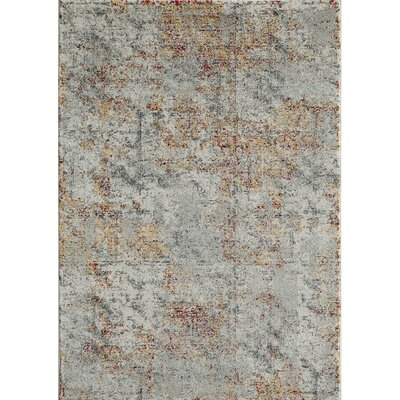 Khalil Gray/Brown Area Rug Rug Size: 710 x 910