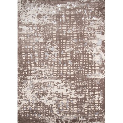 Pierce Brown/Beige Area Rug Rug Size: 76 x 96