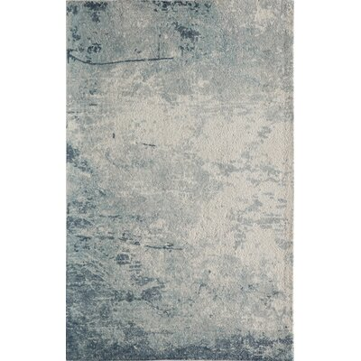 Stanford Hand-Tufted Blue/Ivory Area Rug Rug Size: Rectangle 7'6