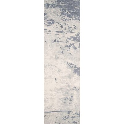 Stanford Hand-Tufted Blue/Ivory Area Rug Rug Size: Runner 2'3