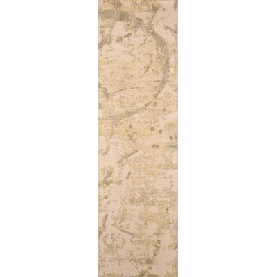 Stanford Hand-Tufted Green/Ivory Area Rug Rug Size: Runner 23 x 8