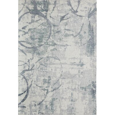 Stanford Hand-Tufted Gray/Ivory Area Rug Rug Size: Rectangle 76 x 96