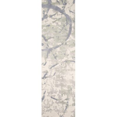 Stanford Hand-Tufted Gray/Ivory Area Rug Rug Size: Runner 23 x 8