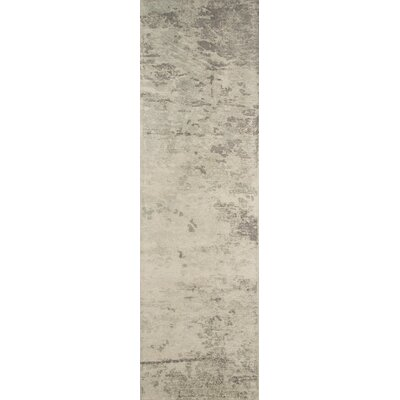 Raiden Abstract Hand-Tufted Green/Ivory Area Rug Rug Size: Runner 23 x 8