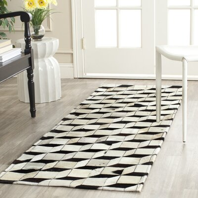 Stasia Leather Rug Rug Size: Runner 23 x 7