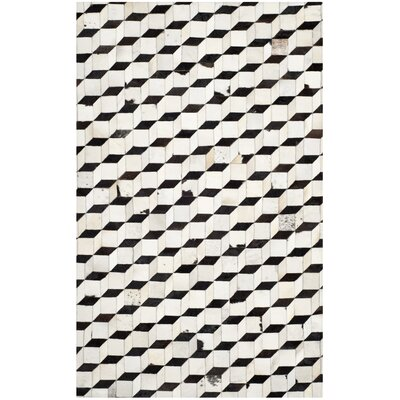 Stasia Leather Rug Rug Size: 5 x 8