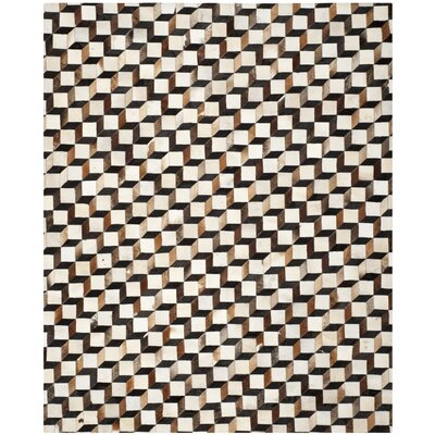 Stasia Hand-Woven Brown/Ivory Area Rug Rug Size: Rectangle 3 x 5