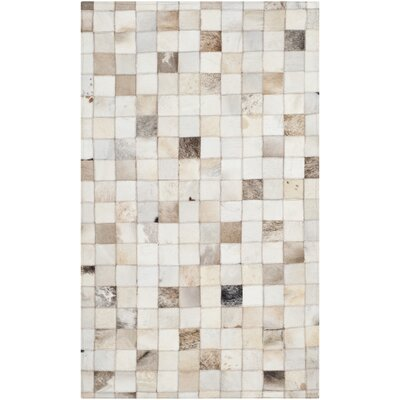 Sequoyah Leather Beige/Multi Area Rug Rug Size: 3 x 5