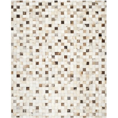 Sequoyah Leather Beige/Multi Area Rug Rug Size: 8 x 10