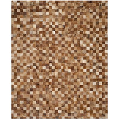 Barr Leather Brown/Light Brown Rug Rug Size: 8 x 10