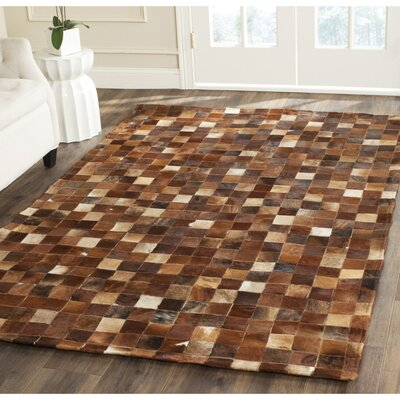 Sequoyah Leather Brown/Light Brown Rug Rug Size: 4 x 6