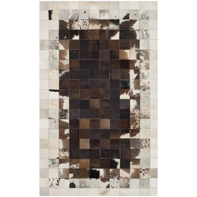 Sequoyah Ivory / Dark Brown Geometric Rug Rug Size: 3 x 5