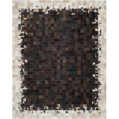 Sequoyah Ivory / Dark Brown Geometric Rug Rug Size: 8 x 10