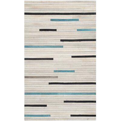Stasia Leather Multi Contemporary Area Rug Rug Size: 3 x 5
