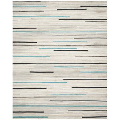 Stasia Leather Multi Contemporary Area Rug Rug Size: Rectangle 8 x 10