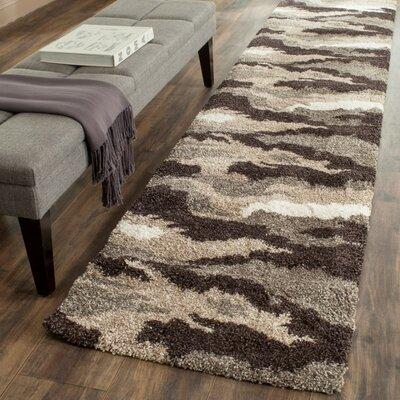 Hanover Beige & Grey Area Rug Rug Size: 33 x 53