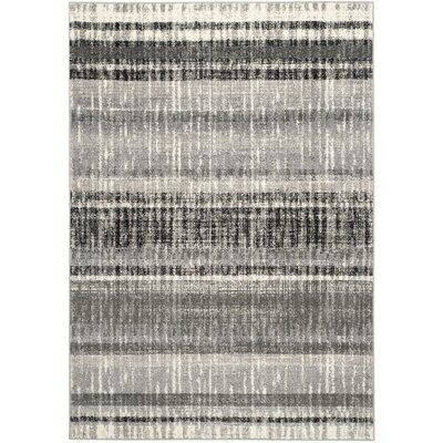 Whisperwood Cream / Dark Gray Area Rug Rug Size: Rectangle 51 x 76