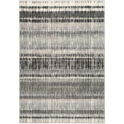 Whisperwood Cream / Dark Gray Area Rug Rug Size: 51 x 76