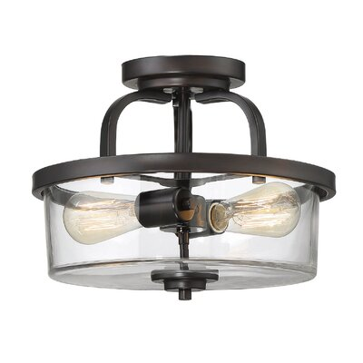 Poteau 2-Light Semi Flush Mount