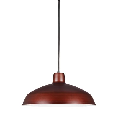 Silver Hills Bowl Pendant Finish: Antique Brushed Copper