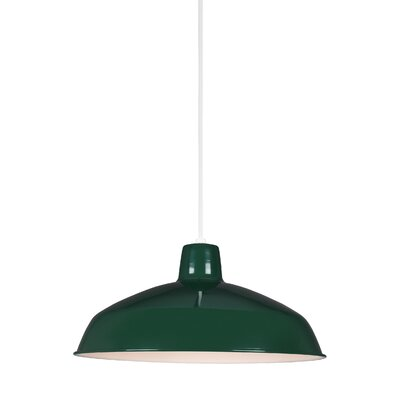 Silver Hills Bowl Pendant Finish: Emerald Green