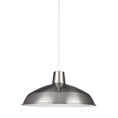 Silver Hills Bowl Pendant Finish: Brushed Stainless