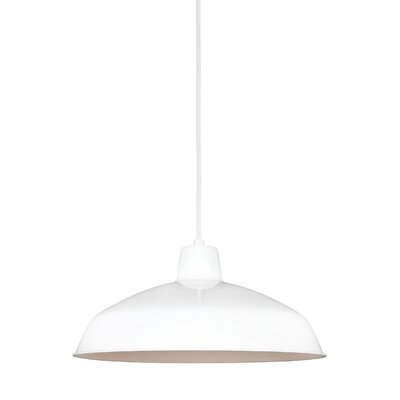 Atkinson Bowl Pendant Finish: White