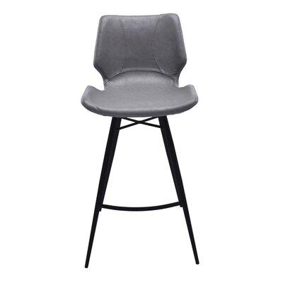 Okmulgee 26 Bar Stool with Cushion Upholstery: Vintage Gray