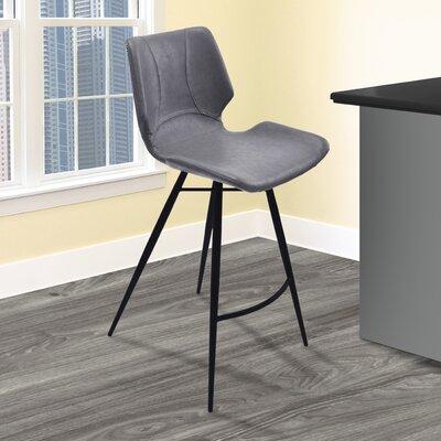 Okmulgee 30 Bar Stool Upholstery: Vintage Gray