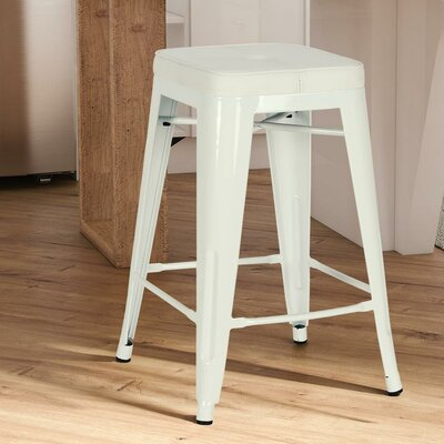 Sedona 23 Bar Stool with Cushion Finish: White