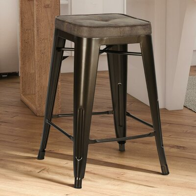 Sedona 23 Bar Stool with Cushion Finish: Bronze