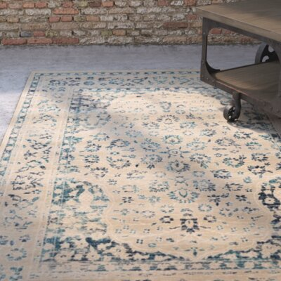 Baldwin Park Beige/Turquoise Area Rug Rug Size: Rectangle 8 x 10